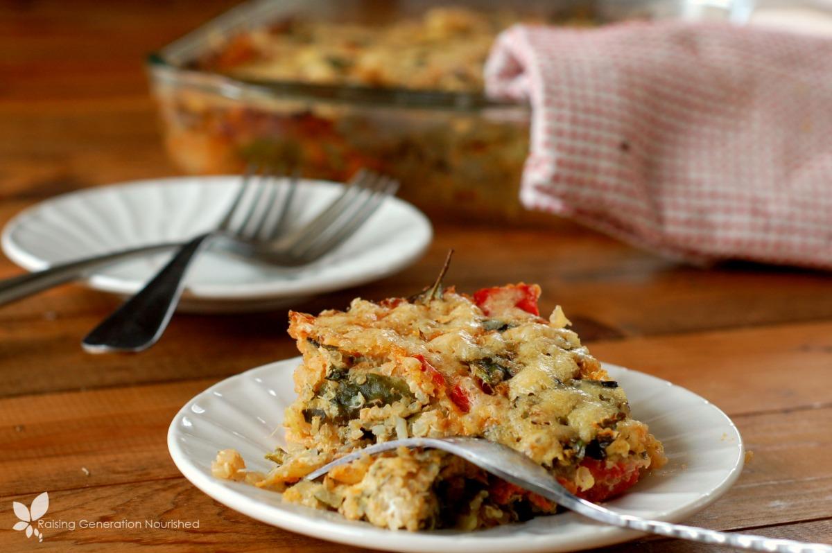 Parmesan Baked Veggie Quinoa // Raising Generation Nourished