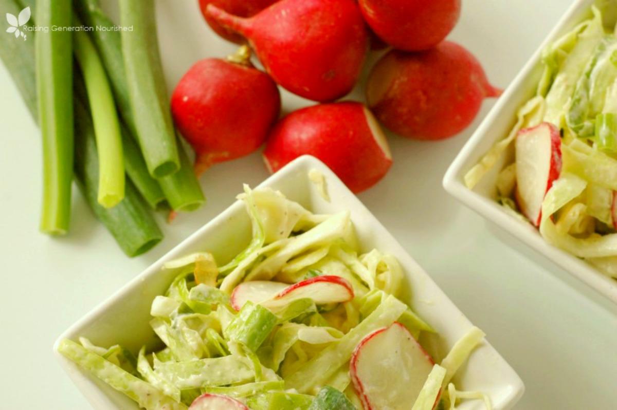 Spring Inspired Coleslaw
