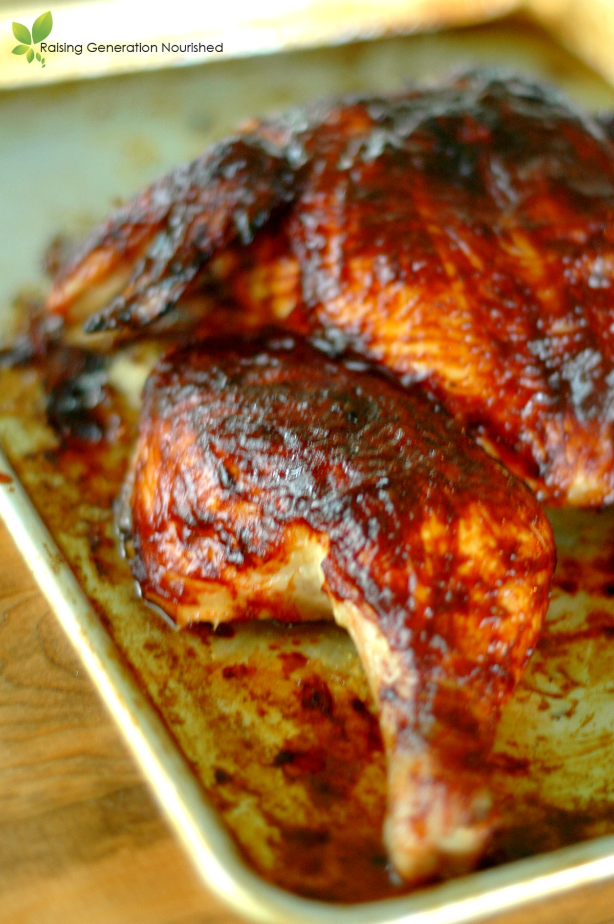 Spatchcock BBQ Chicken