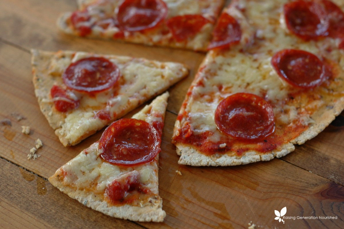 Simple Thin Crust Tortilla Pizza