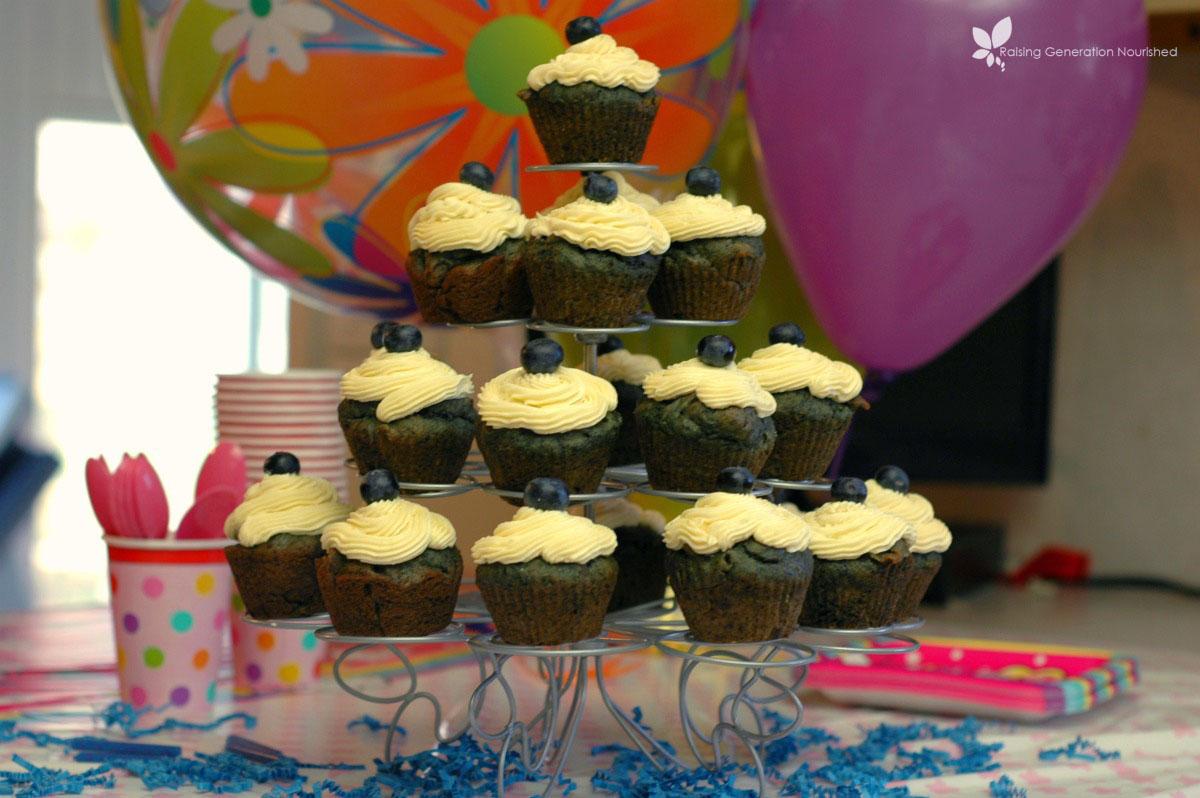 Blueberry Birthday Cupcakes! :: Gluten, Egg, & Nut Free w/ Dairy Free Options