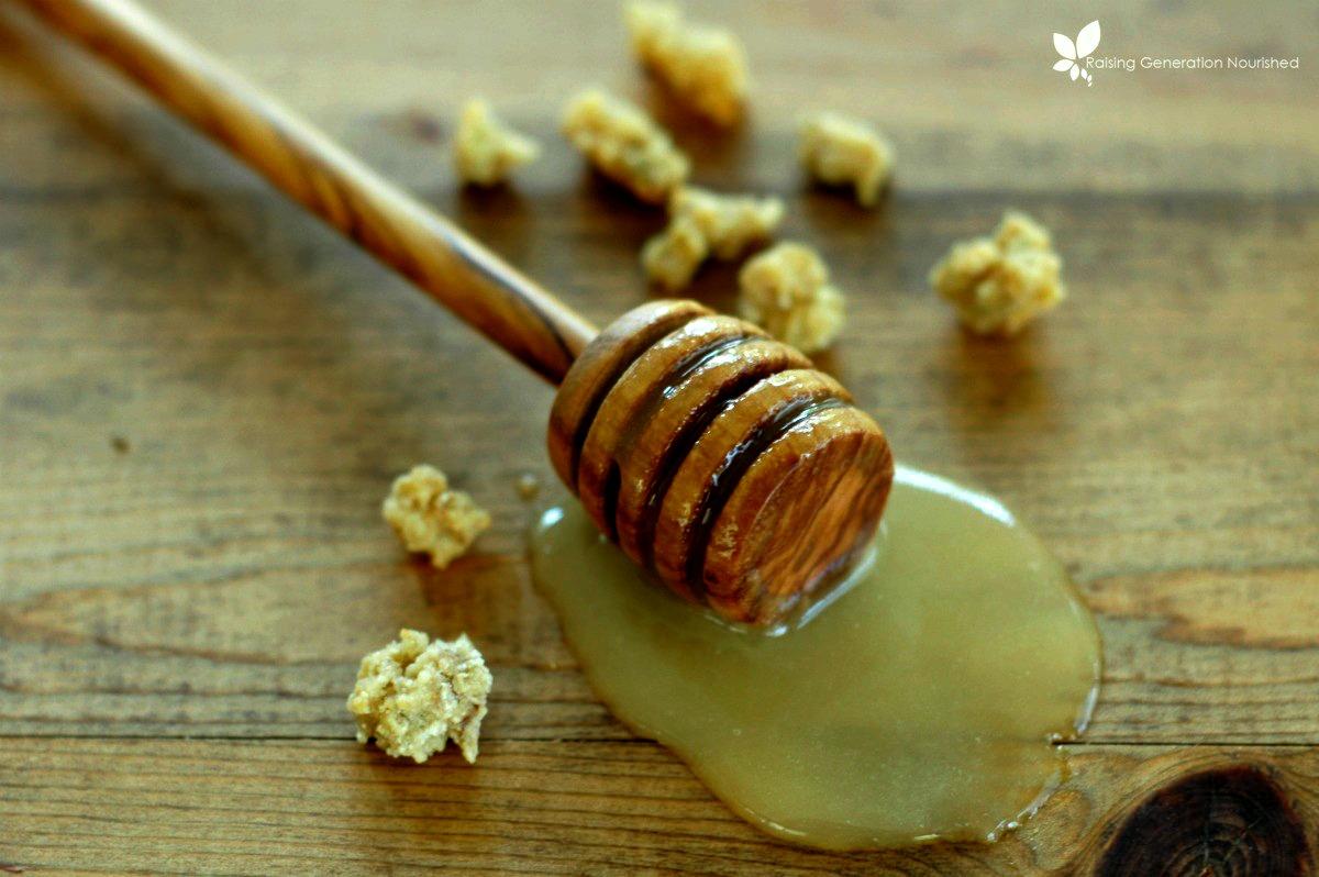 Honey Rhubarb Granola :: Gluten, Egg, & Refined Sugar Free