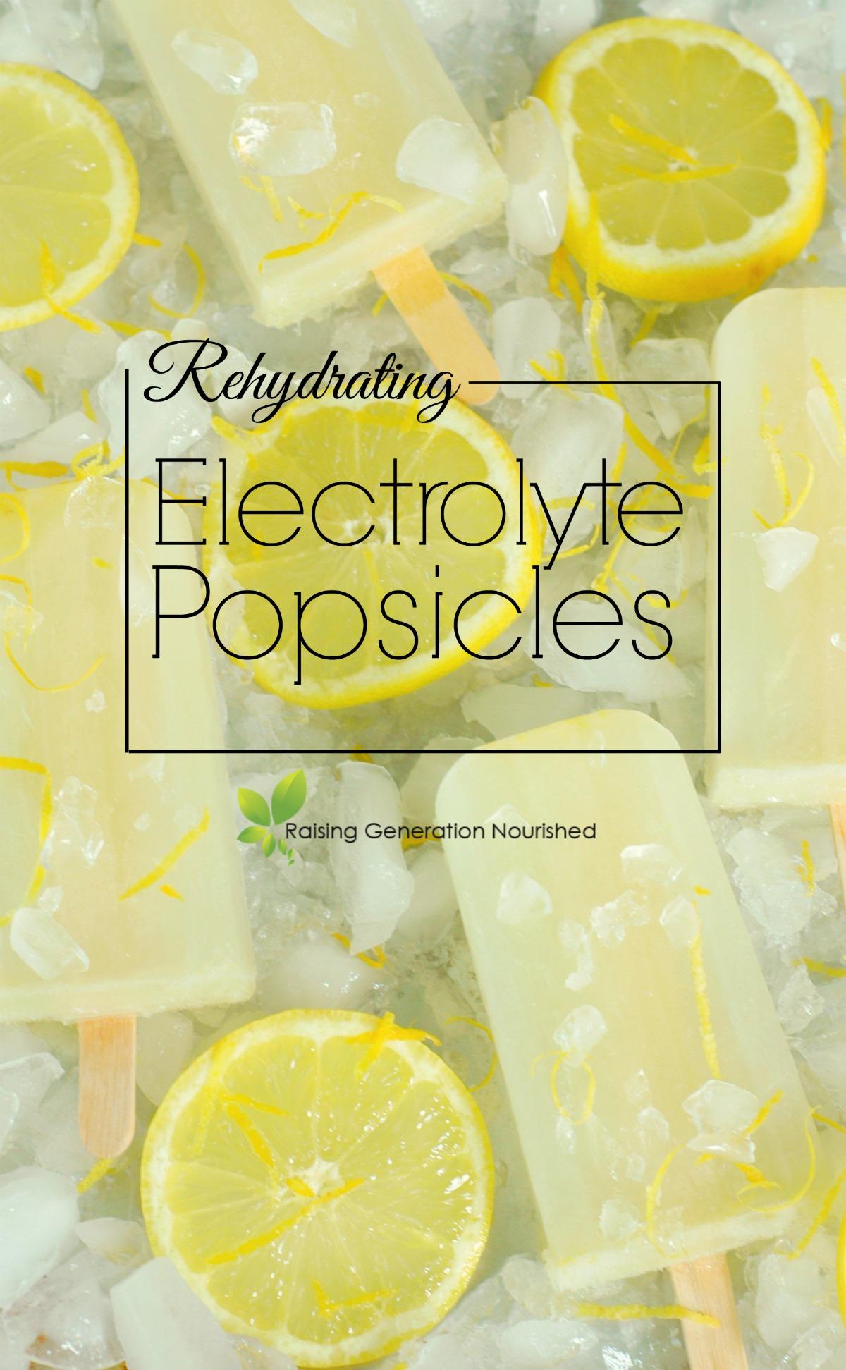 Rehydrating Eletrolyte Popsicles