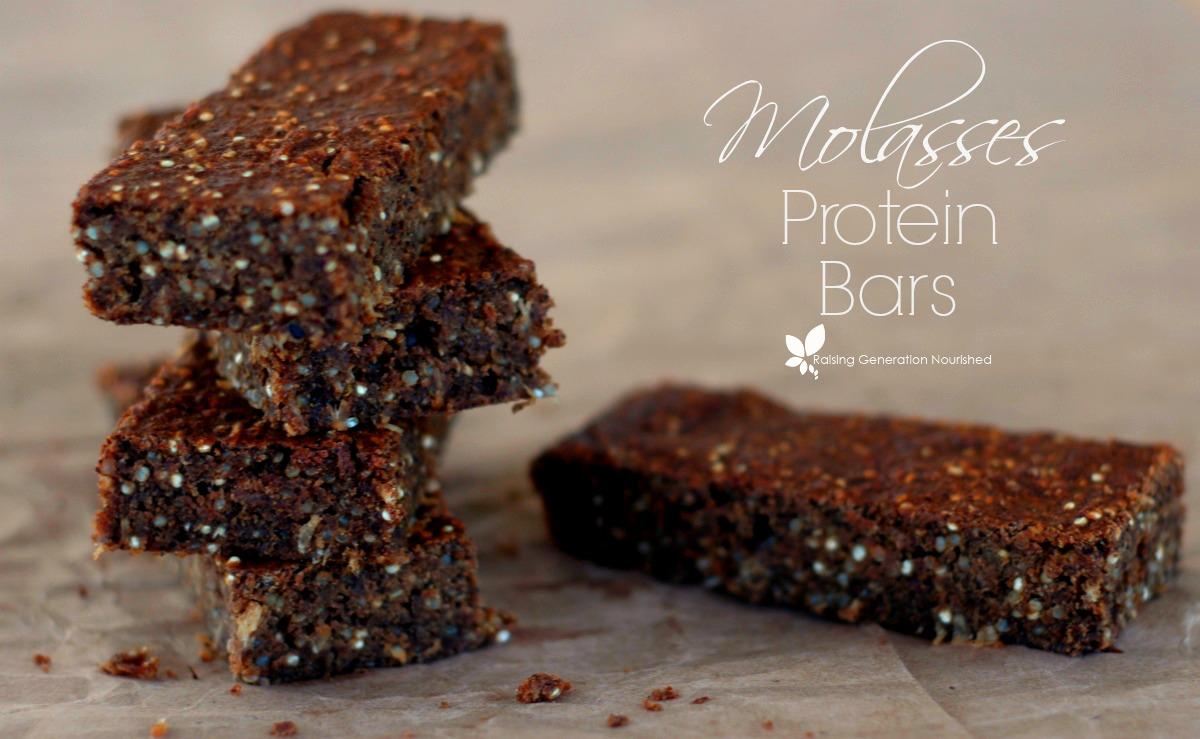 Molasses Protein Snack Bars :: Gluten, Dairy, Nut, & Egg Free