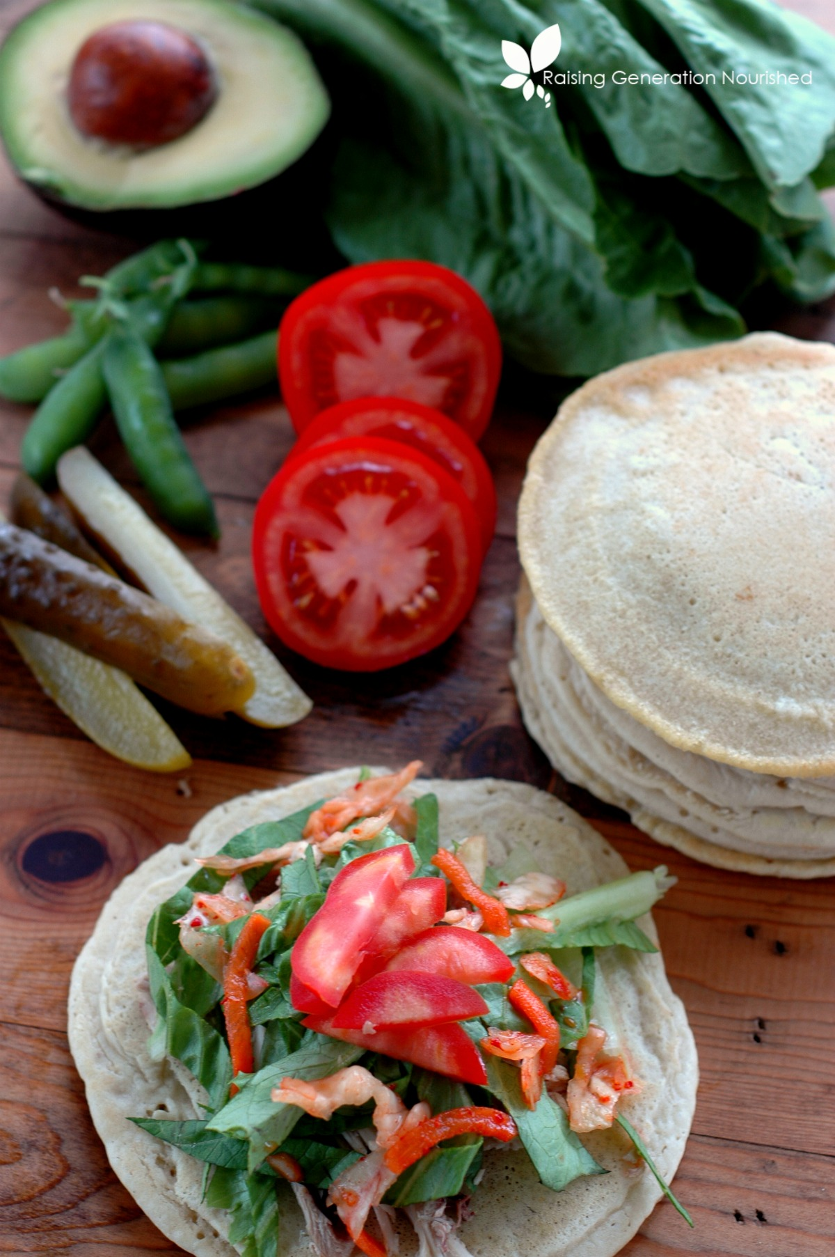 Gluten Free Pita Bread :: Flexible & soft, yet sturdy enough to stuff with your favorite ingredients! This pita tastes just like bread without gluten or xanthan gum!