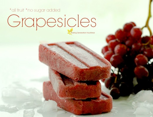 Real Food *All Fruit* Grapesicles!