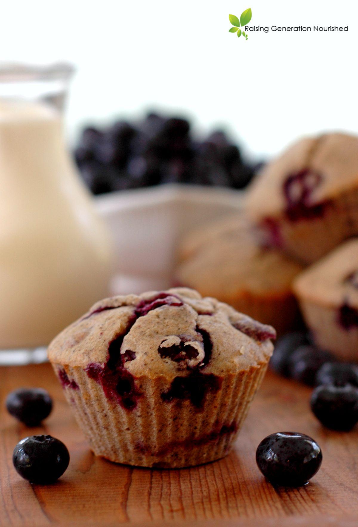 Blueberry Buckwheat Muffins