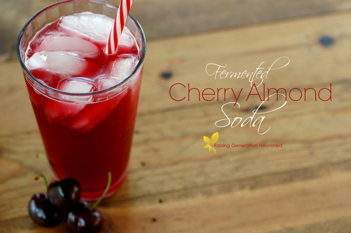 Fermented Cherry Almond Soda