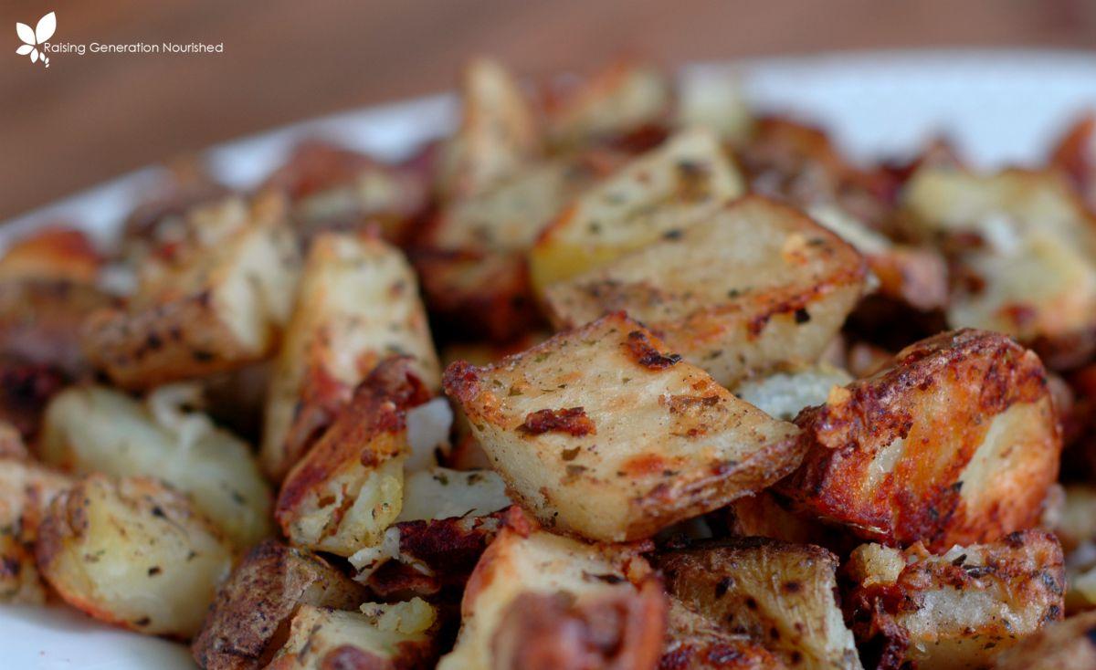 Parmesan Roasted Italian Potatoes