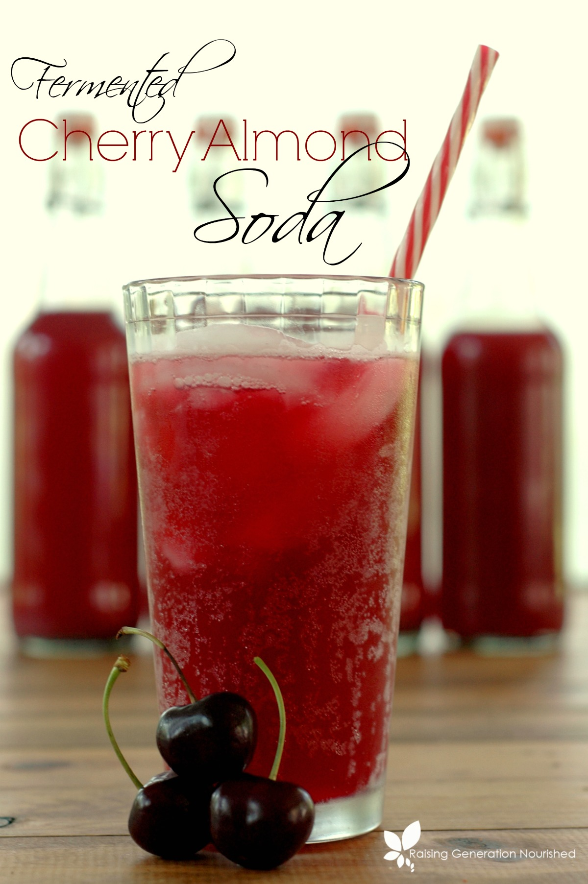 Fermented Cherry Almond Soda