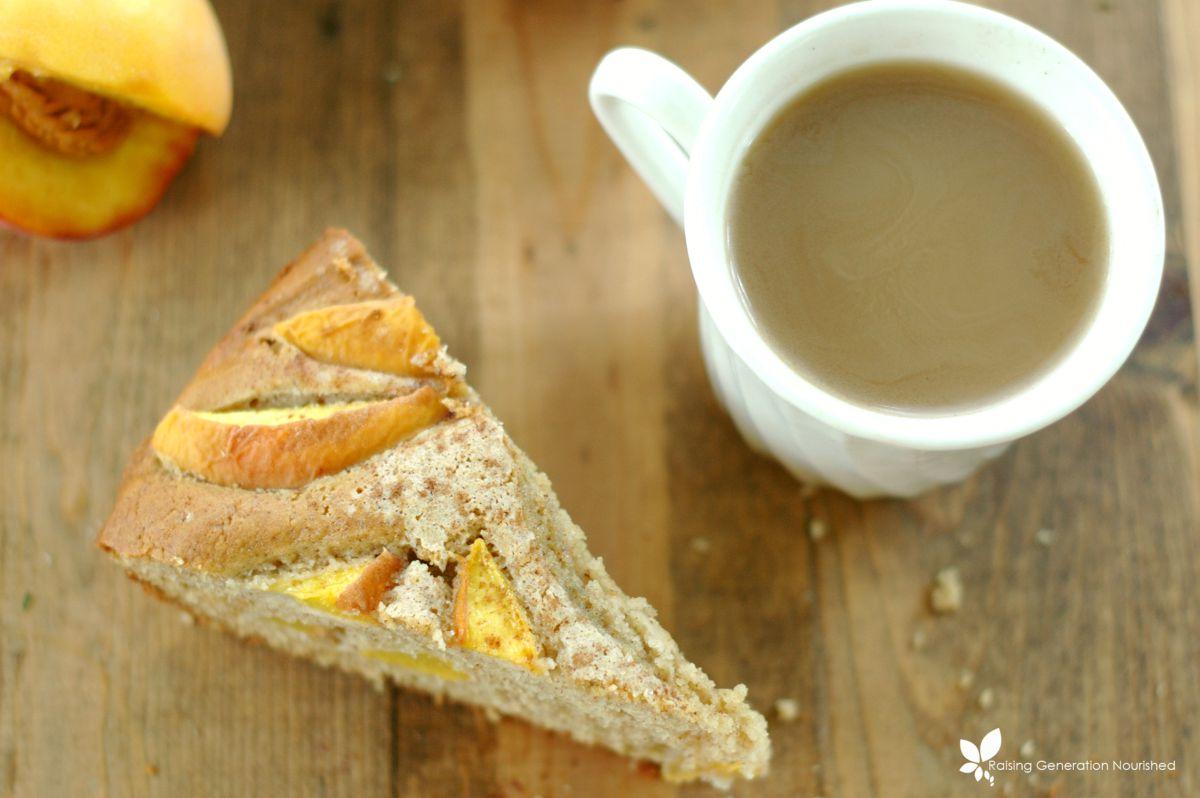 Peach Coffee Cake :: Gluten Free