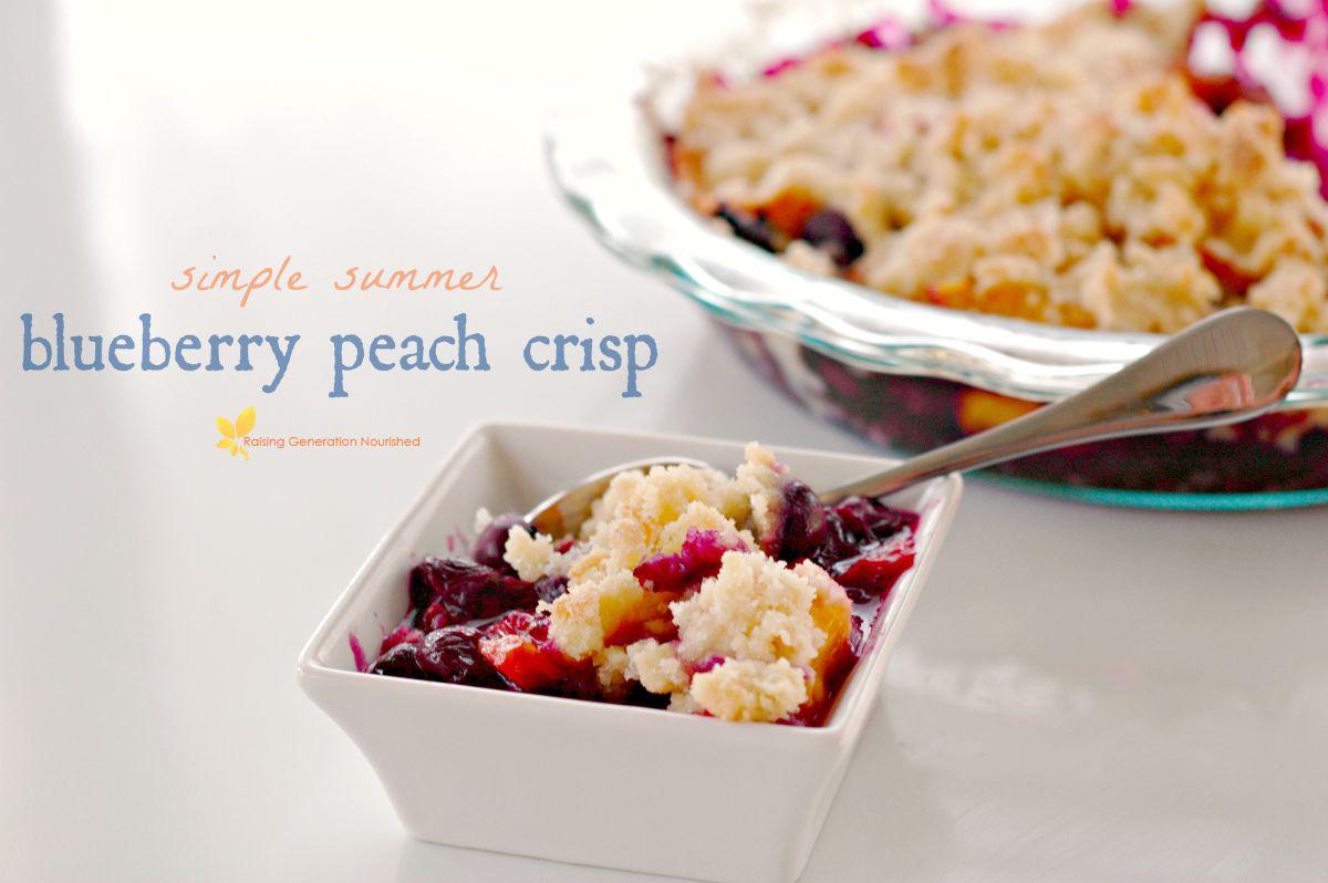 Blueberry Peach Crisp :: Gluten Free