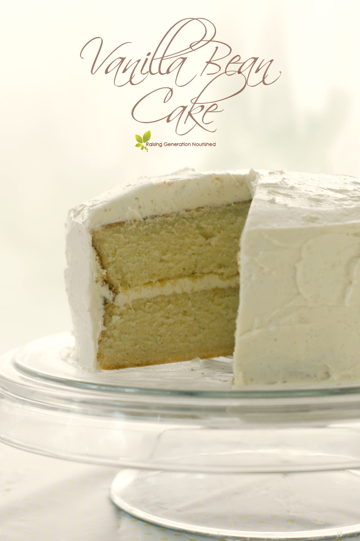 Gluten Free Vanilla Bean Cake