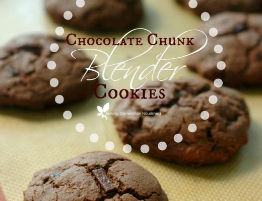 Gluten Free Chocolate Chunk Blender Cookies