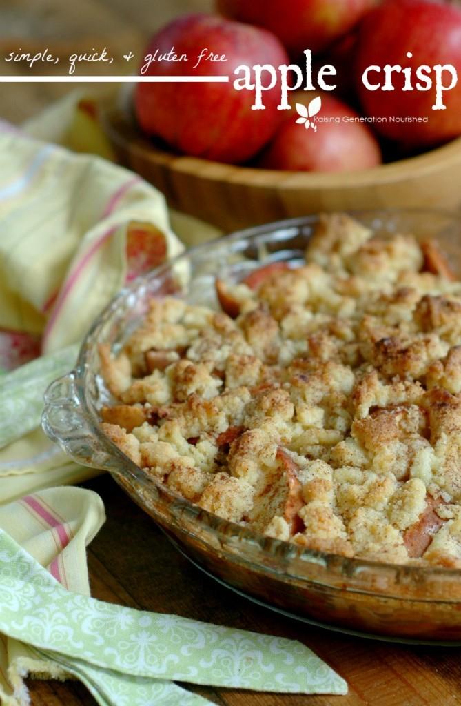 Simple, Quick & Gluten Free Apple Crisp