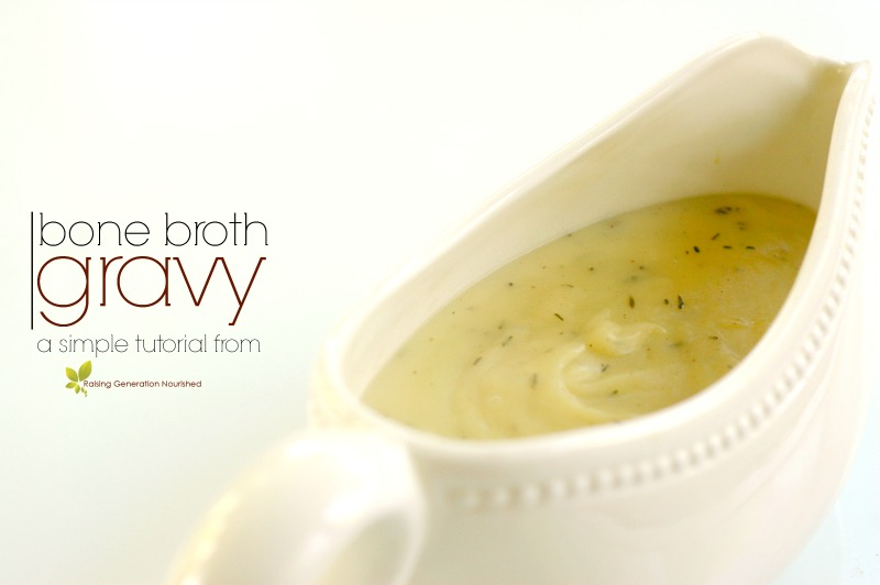5 Minute Bone Broth Gravy :: Gluten & Grain Free Options!