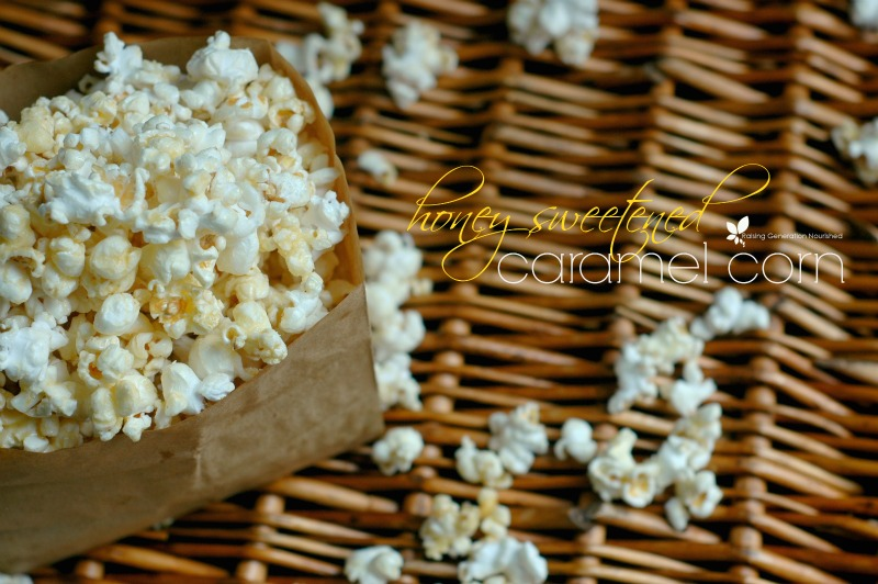 Homemade Honey Sweetened Caramel Corn