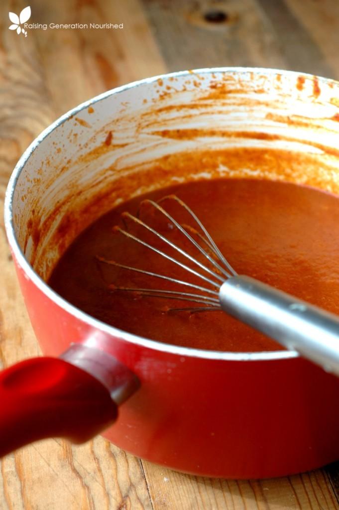 10 Minute Enchilada Sauce :: Plus a delicious enchilada recipe!