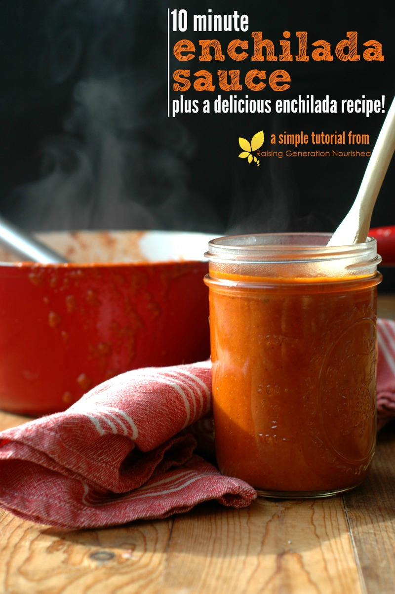 10 Minute Enchilada Sauce :: Plus a delicious enchilada recipe ...
