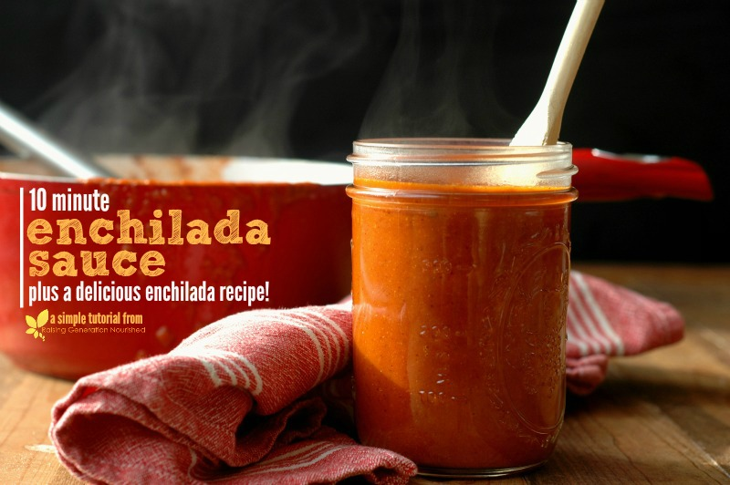 10 Minute Enchilada Sauce :: Plus a delicious enchilada recipe!