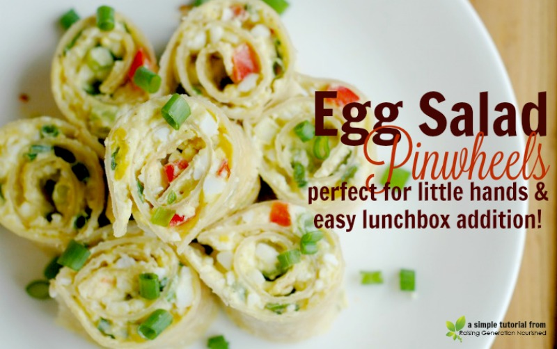 Egg Salad Pinwheels :: Perfect For Little Hands & An Easy Lunchbox Addition!