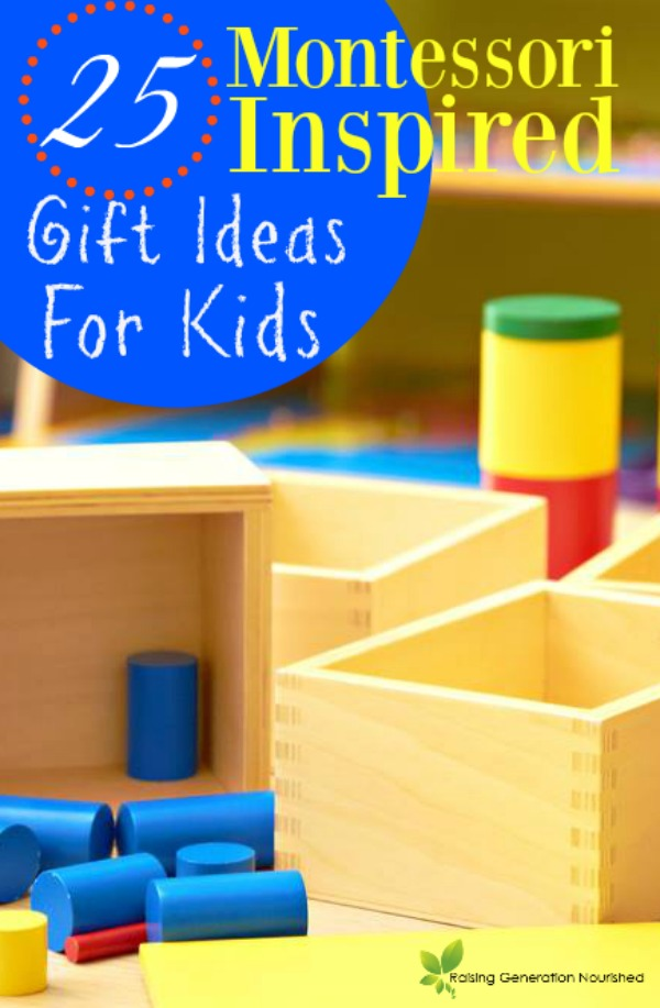 Raising Generation Nourished's Montessori Gift Guide!