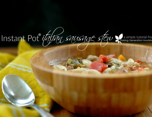 Instant Pot Italian Sausage Stew