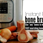 Instant Pot Bone Broth :: Learn how to use *any* bones to make fast, nourishing bone broth with your Instant Pot!