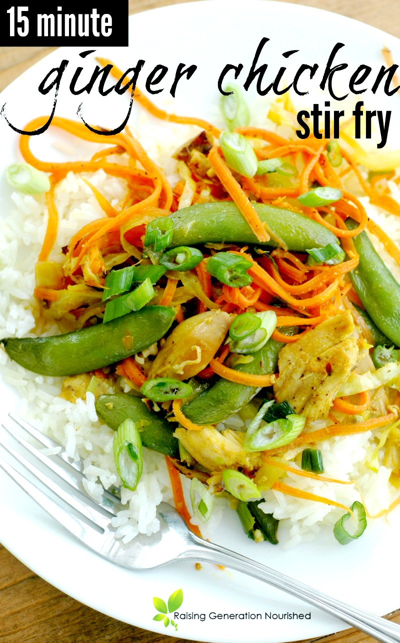 15 Minute Ginger Chicken Stir Fry