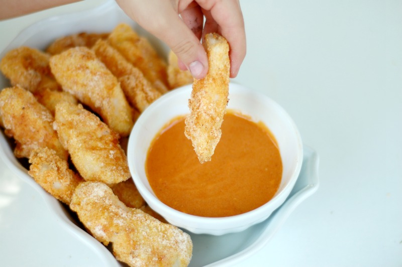 Quick easy gluten free fish sticks with kid friendly for Sauce for fish sticks