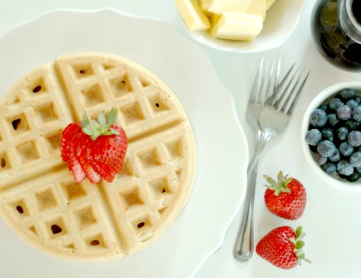 Gluten Free Waffles :: Plus! Non Toxic Waffle Iron Solutions, Real Food Waffle Topping Ideas, & How to Batch Cook Waffles for the Freezer!