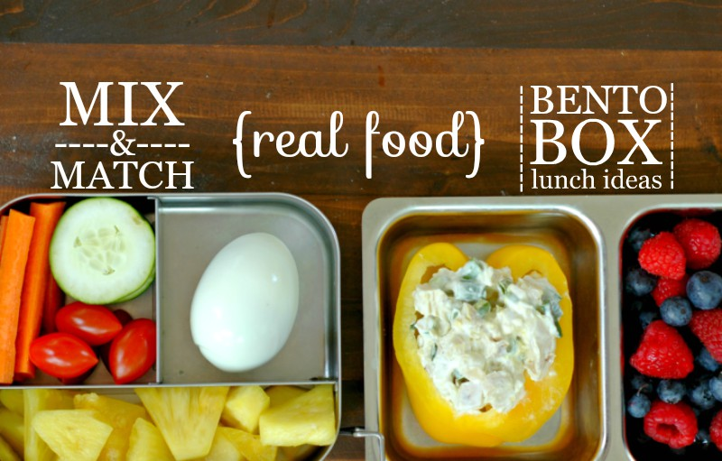 Mix & Match Real Food Packable Bento Box Lunch Ideas :: PLUS! A free mix & match printable for you!