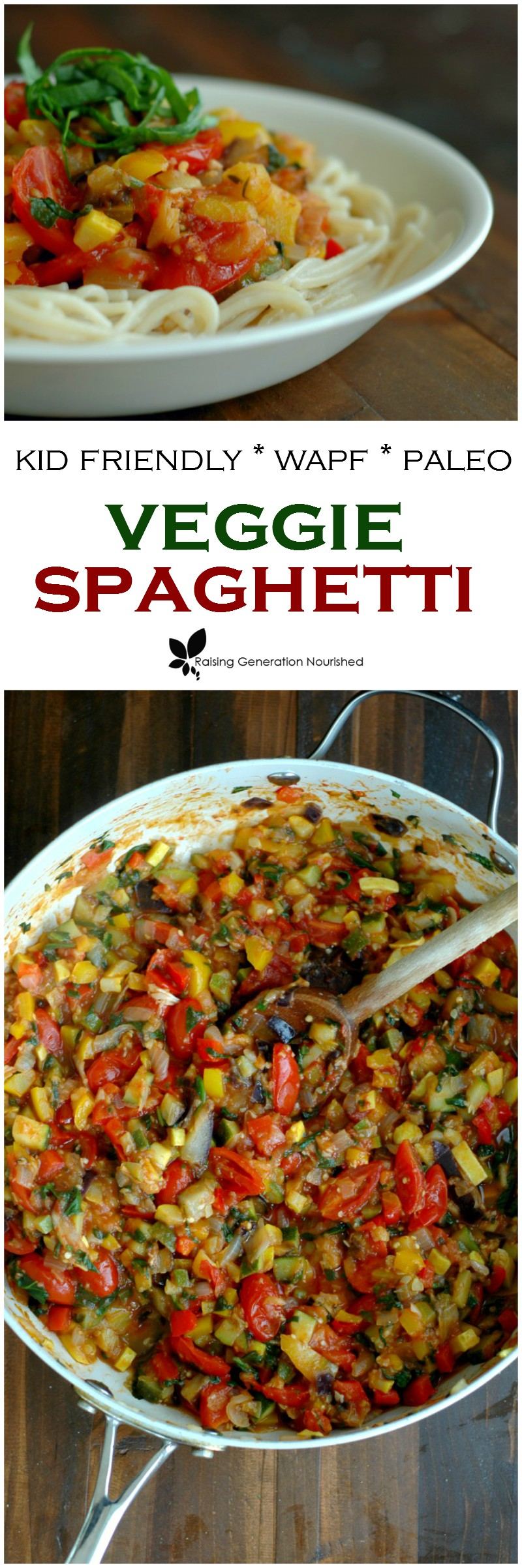 Kid Friendly Veggie Spaghetti Sauce! :: This kid friendly veggie spaghetti sauce is loaded with brilliant color, amazing taste, and is super fun to eat piled on top of your favorite noodles or veggie noodles!