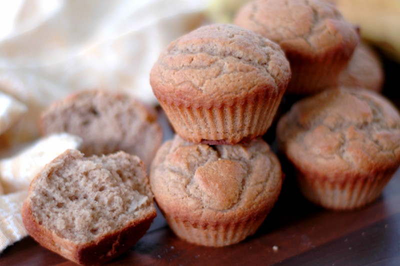 Nutrient Dense Protein Banana Breakfast Muffins :: Protein and friendly fat packed, this isn't just any banana bread! Perfect for a full and focused school morning!