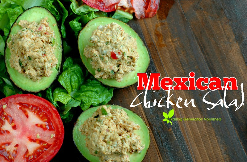 5 Minute Mexican Chicken Salad :: Mexican chicken salad is abundant with bright, bold flavor, and just 5 minutes of prep time!
