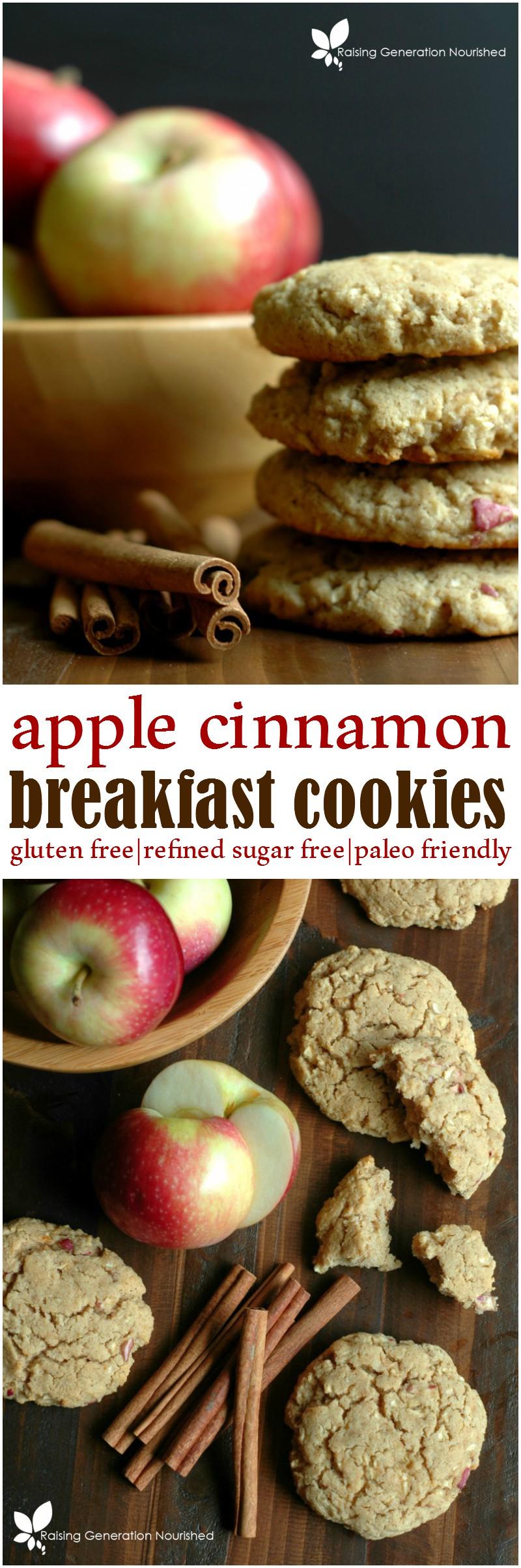Healthy Apple Cinnamon Breakfast Cookies :: Refined Sugar Free & Gluten Free!