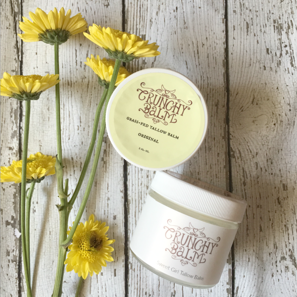 Safe Skin Care :: Crunchy Balm Tallow Balm Review :: A real food, tallow based healing and moisturizing balm, Crunchy balm is perfectly safe for babies to adults with results you will love!