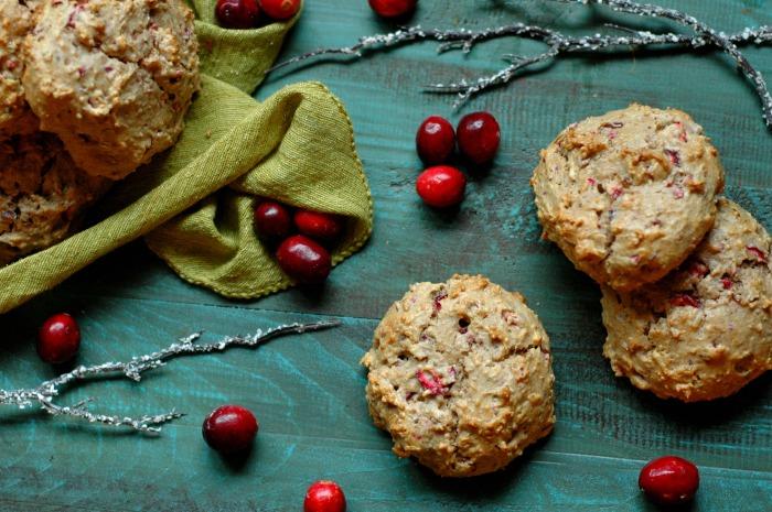 Blender Batter Fresh Cranberry Breakfast Cookies :: Gluten Free, Refined Sugar Free, Paleo Friendly