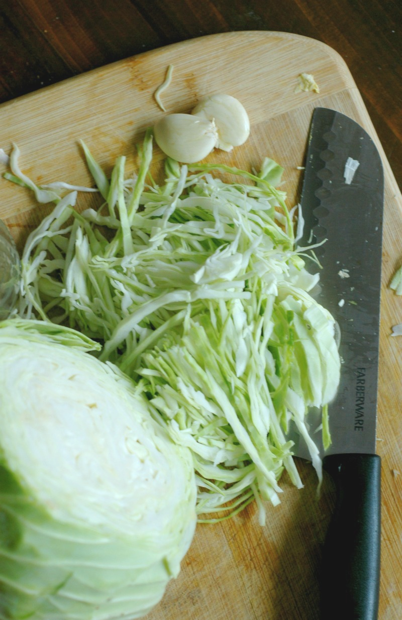 Probiotic Rich Sauerkraut {Fermented Cabbage} :: 2 Ingredients, Quick Prep, Real Food!