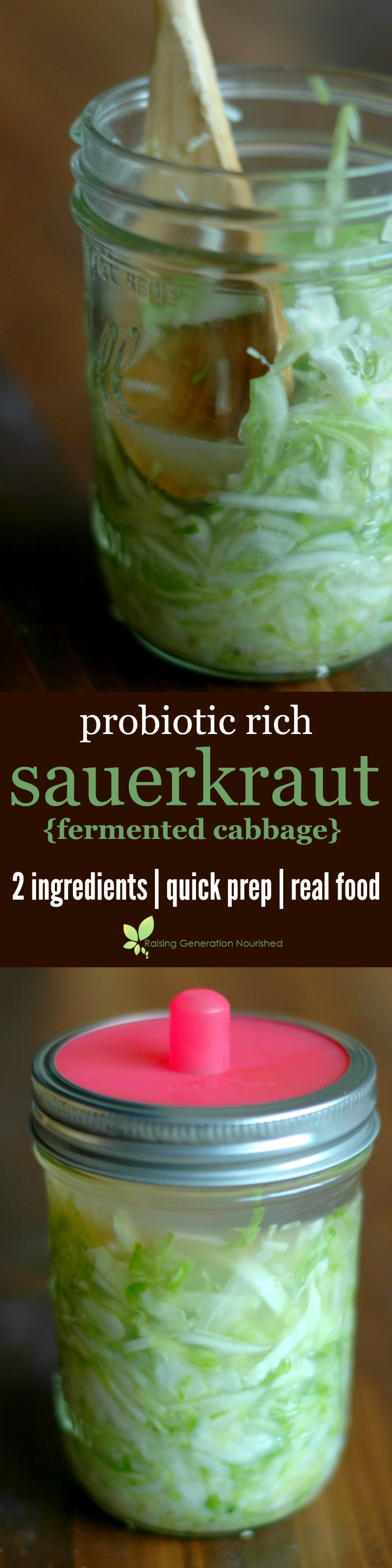 Homemade sauerkraut is the simplest way to populate your gut with a variety of nourishing probiotics for robust gut health and immune systems!