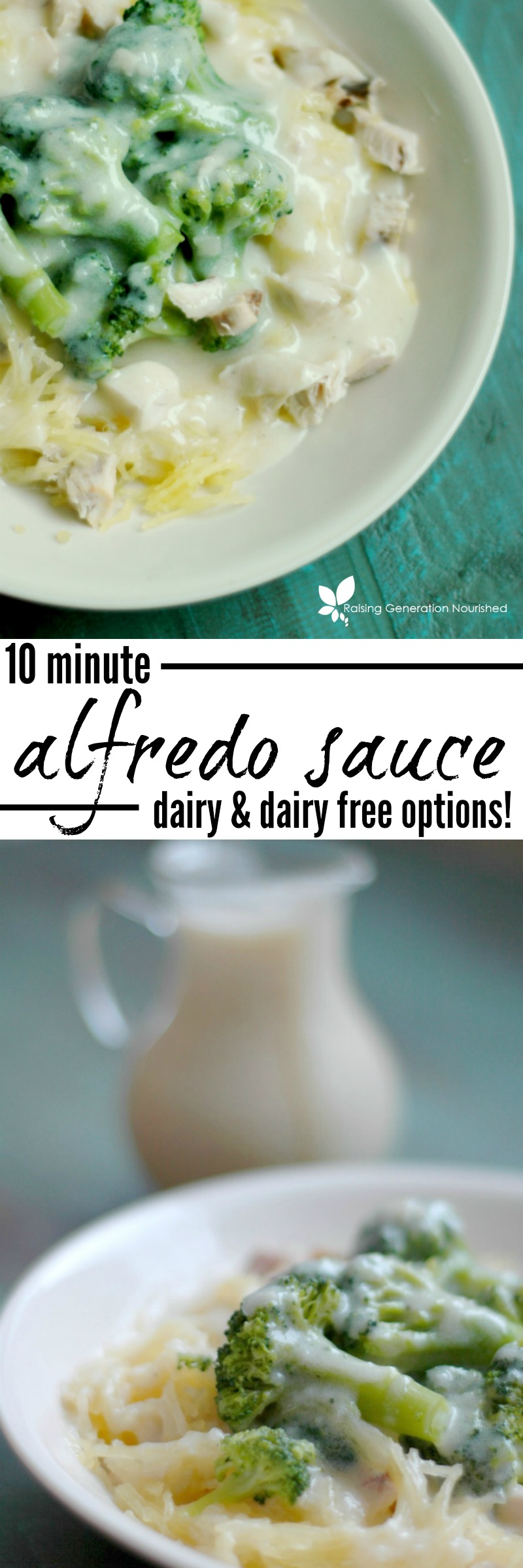 10 Minute Homemade Alfredo Sauce :: Dairy and Dairy Free Options!