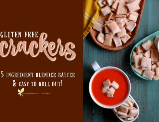 Simple Gluten Free Crackers :: 5 Ingredient Blender Batter & Easy to Roll Out!