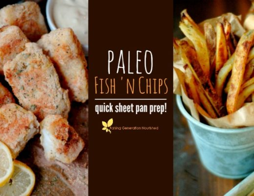Paleo Fish 'N Chips :: Quick Sheet Pan Prep!