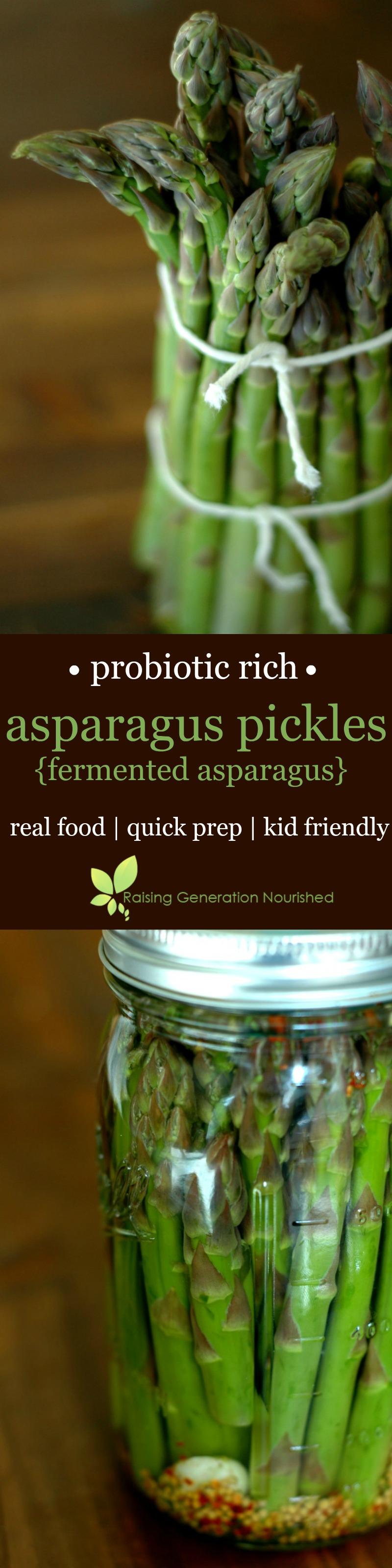 Probiotic Rich Asparagus Pickles (Fermented Asparagus!)
