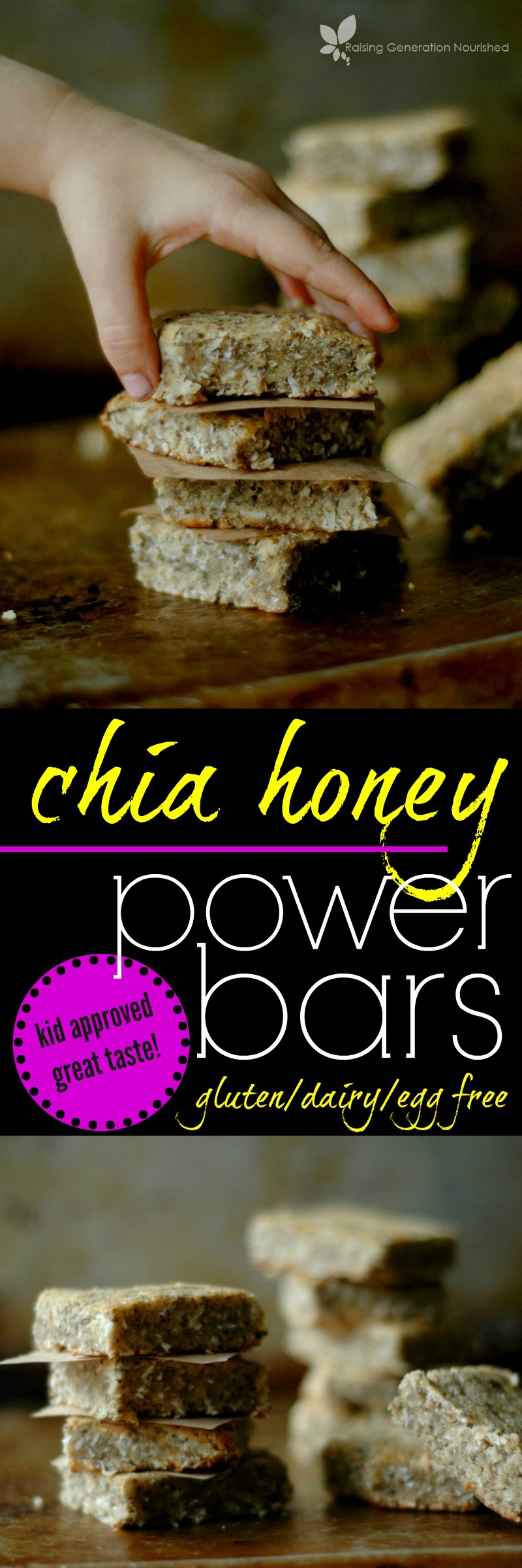 Paleo Chia Honey Power Bars :: Gluten, Egg, and Dairy Free