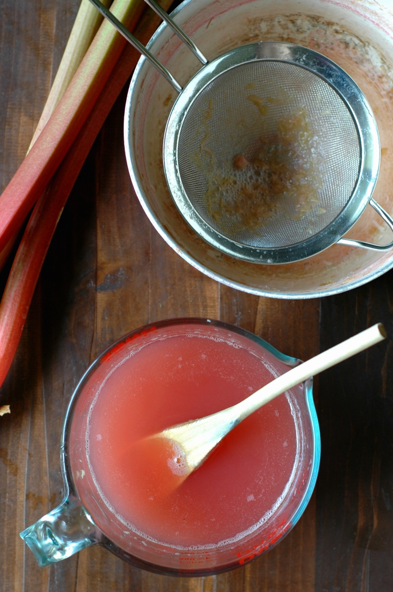 Honey Rhubarb Water Kefir Soda :: A naturally probiotic rich fizzy, fun drink for the whole family!