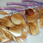 oat pancakes in bags for freezing