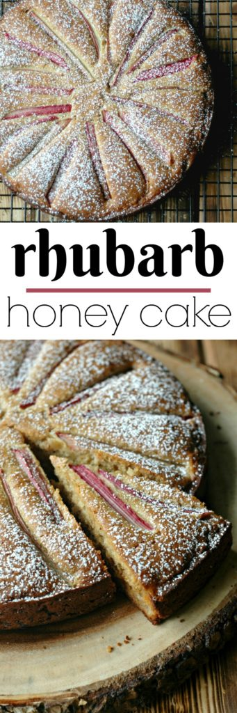 Gluten Free Rhubarb Honey Cake