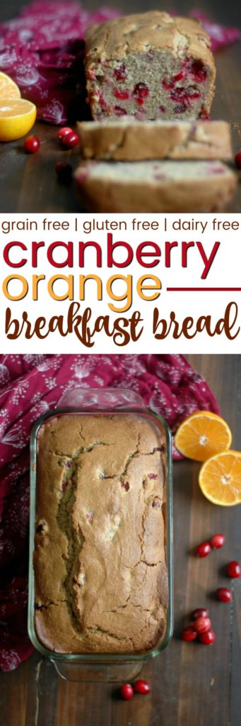 Gluten Free Cranberry Orange Bread :: Gluten, Grain, & Dairy Free