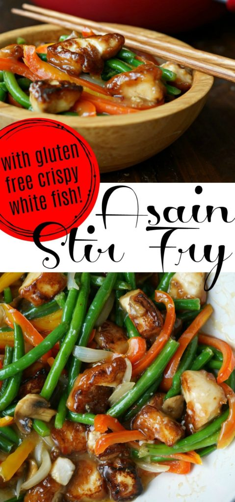 Gluten Free Asian Stir Fry with Crispy Fish